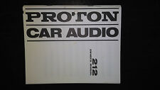 Proton 212 owners manual original car radio stereo cassette tape player