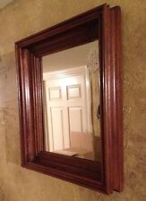 Antique WALNUT Shadowbox Picture Frame with Mirror 15 x 13