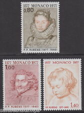 MONACO - 1977 400th BIRTH anniv. di Rubens (3V) - UM / MNH