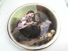 VINTAGE EDWARDIAN CHINA THE BEGGAR BOYS COLLECTOR PLATE DISPLAY CHARGER