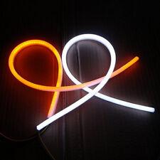 2Pcs 60cm Switchback LED Lampe Strip Streifen DRL Tagfahrlicht Leuchte Weiß/Gelb