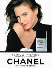 PUBLICITE ADVERTISING 084  1993  CHANEL cosmétiques formule intense