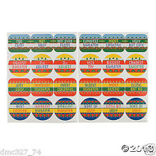 48 CHRISTMAS Holiday UGLY SWEATER Party Game Favors UGLY SWEATER Award STICKERS