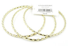 New 3 Piece Spiral Gold Tone Bangle Bracelet Set from Banana Republic #BRB3