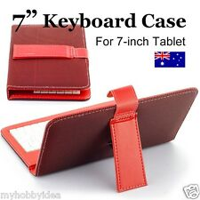 "7"" Pink Keypad Keyboard Leather Case 4 Android Tablet PC ALDI  KMART ONIX Pendo"