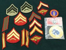 23183) Patch Lot USMC Marine Corps Chevrons Old & New Military Rank Insignia