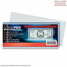 ULTRA PRO - Regular Currency /  Banknote Sleeves 157mm x 68mm - 100 Pack