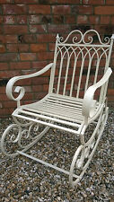 Stunning Shabby Chic Victorian Style Rocking Chair in Cottage Cream Finish  2440