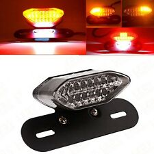 Clear 20LED Motorcycle Tail Turn Signal Brake License Plate Integrated Light 12V