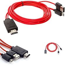 11 Pin MHL Micro USB to HDMI 1080P HDTV Cable for Samsung S4 Note 3 2 Phone