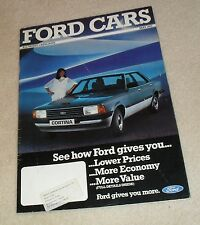Ford Brochure 1982 Granada Ghia X Cortina Capri 2.8 V6 Fiesta XR2 Escort XR3