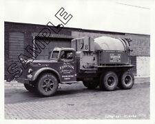 1951 MACK LJSW TRANSIT MIXER TRUCK 8x10 GLOSSY B&W PHOTO - HARRISON SUPPLY, NJ