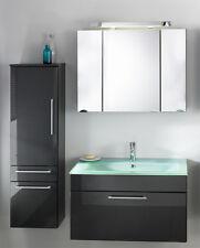Badmöbel Waschplatz Heron Waschtisch mit Spiegel Hängeschrank Unterschrank
