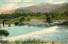 Oregon, OR, Roseburg, Umpqua River Power Dam Postcard
