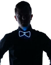 Flashing Light Up Bow Tie Necktie LED Mens Xmas Party Lights Sequins Bowtie Gift