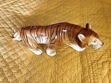 """Vintage Royal Dux Bohemia Czech Porcelain 16"""" Bengal Tiger Figurine"""