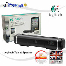 Nuovo Logitech TS1 Mini Altoparlanti per Tablet PC Laptop iPhone iPad Galaxy HTC