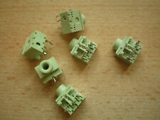 3.5mm stereo replacement jack socket PCB green 6pcs £2.50 Item 2037