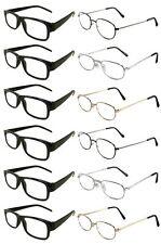 12 Reading Glasses [+2.75] 6 Black Plastic Frame 6 Assorted Metal Frame 2.75
