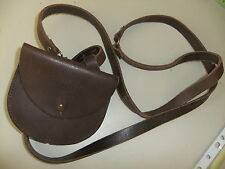 Ladies bag DKNY leather shoulder strap 12x10cm brown press closer