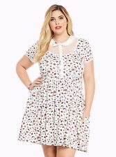 HELLO KITTY PLUS SIZE 3 3X 22/24 SKATER DRESS TOP SHIRT SKIRT PINUP COLLAR NWTS