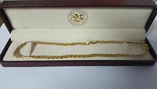 "14kt Yellow Gold Braided Herringbone Necklace 16.5"" 8.9 Grams"