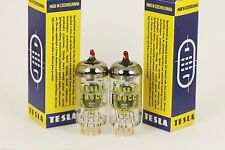 NOS 6922 E88CC TESLA RED-TIP MILITARY MATCHED PAIR TUBES AMPLITREX TESTS L@@K!