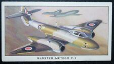 Gloster Meteor F3   RAF Jet Fighter   Vintage Card # VGC