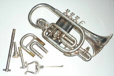 Collectible Antique matching Besson Prototype Cornet with extra pipes
