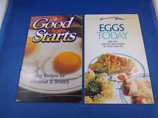 RECIPE BOOKLETS LOT OF 2 EGGS TODAY & GOOD STARTS EGG RECIPES BREAKFAST & BRUNCH