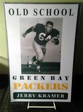 """JERRY KRAMER """"Old School Green Bay Packers"""" Poster"""
