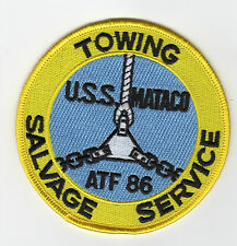 USS Mataco ATF-86 Fleet Tug Boat - Towing Salvage Service BC Patch Cat No C6403
