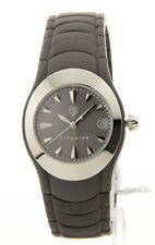 ESQ GREY DIAL DATE TITANIUM CASE & BRACELET WOMEN'S WATCH 07100731 NEW