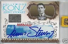 2008 CELEBRITY CUTS WORN SWATCH AUTO: JIMMY(JAMES) STEWART #1/1 of ONE AUTOGRAPH