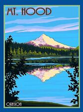 Mt. Mount Hood Oregon United States America Travel Art Poster Advertisement