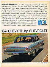 Vintage 1964 Magazine Ad Chevrolet Chevy II More Power Makes More Exciting
