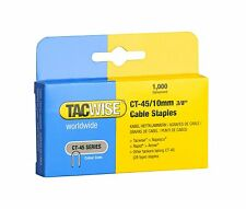 TACWISE CT45 10mm CABLE TACKER STAPLES, 1,000 PER BOX, FITS MOST CABLE TACKERS
