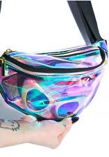 Rainbow transparent Bag Punk chic Hologram FANNY PACK Punk Bum Bag Purse
