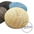 11.5cm Round Natural Straw Millinery Hat Base for Fascinators and Cocktail Hats