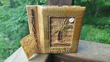 Eco Friendly Recycled Materials Photo Album Handmade Designed in Hawaii Bamboo