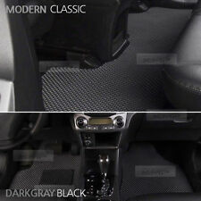 Honeycomb Double Floor Mat Antislip Gary & Black For KIA 2010 - 2012 Sorento R