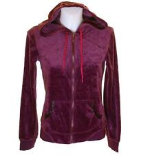Bnwt Womens Fila Velour Hooded Tracksuit Top Medium UK12 Purple