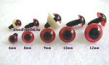 25 PAIR 6 to 12mm Plastic Safety EYES Choose Size & Color Bears, Dolls, Sew PE-1
