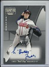 "2001 NOTABLE NICKNAMES HOF GREG ""BULL DOG"" MADDUX AUTO #D5/100 ATLANTA BRAVES"