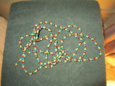 Nice Vintage Style Wooden Bead Garland / Great Looking Bright Colors