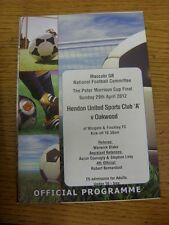 29/04/2012 Maccabi GB National Peter Morrison Cup Final: Hendon United Sports Cl
