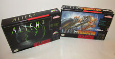 Alien vs. Predator & Alien 3 Super Nintendo SNES Complete CIB Games Good Shape