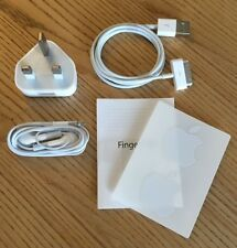 100% Genuine & Official Apple 5W iPod iPhone Charger Earphones & Apple USB Cable