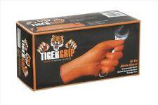 TIGER GRIP 7 mil superior grip Orange Nitrile Gloves - Large,100 count, New, Fre