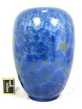 Seltene Kristall Glasur Studio Keramik Vase Albert Kiessling Langenhessen 26,5cm